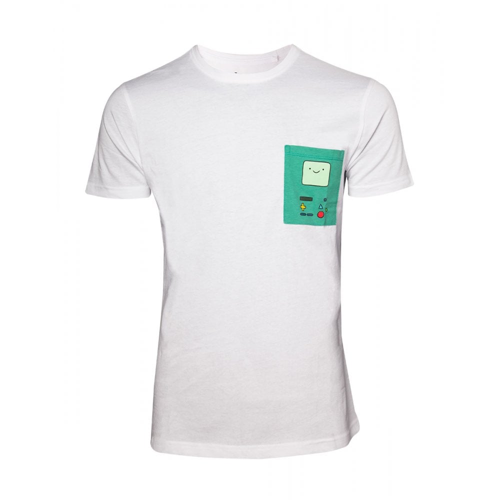 Adventure Time T Shirt White With Printed Chest Pocket Epic Loot