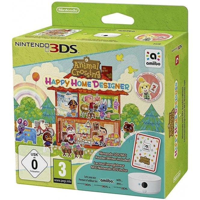 Animal Crossing Happy Home Designer + Amiibo Card + NFC Reader 3DS