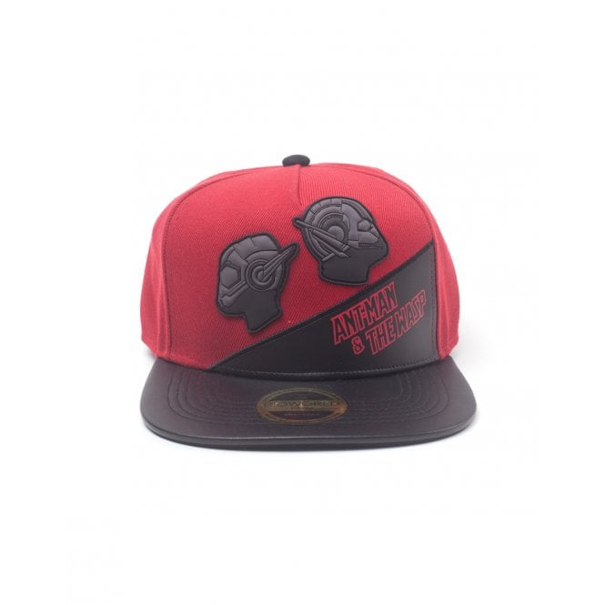 Ant-Man & The Wasp Rubber Patch PU Novelty Snapback Cap