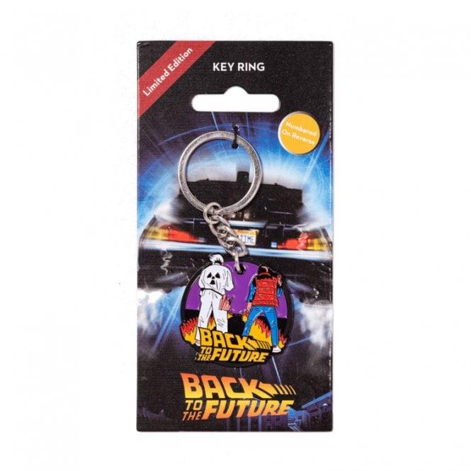 Back To The Future Fire Keyring