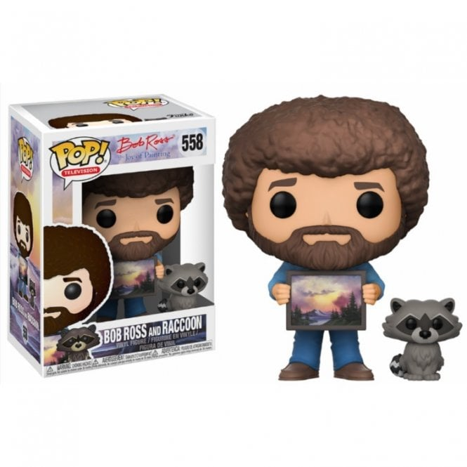 Bob Ross with Raccoon POP! Vinyl with Chase