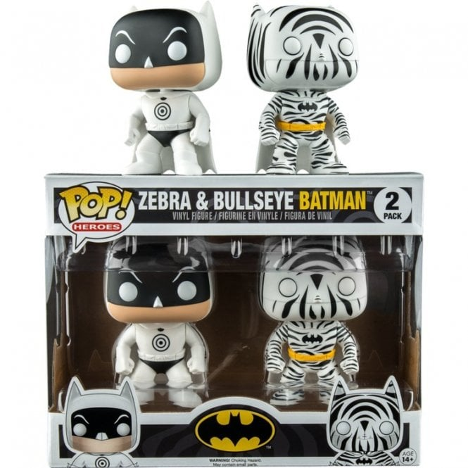 Bullseye Batman & Zebra Batman Exclusive POP! Vinyl 2 Pack