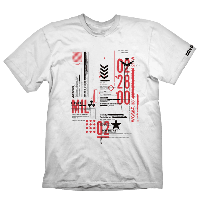 Call of Duty Cold War Defcon-1 T-Shirt White Medium