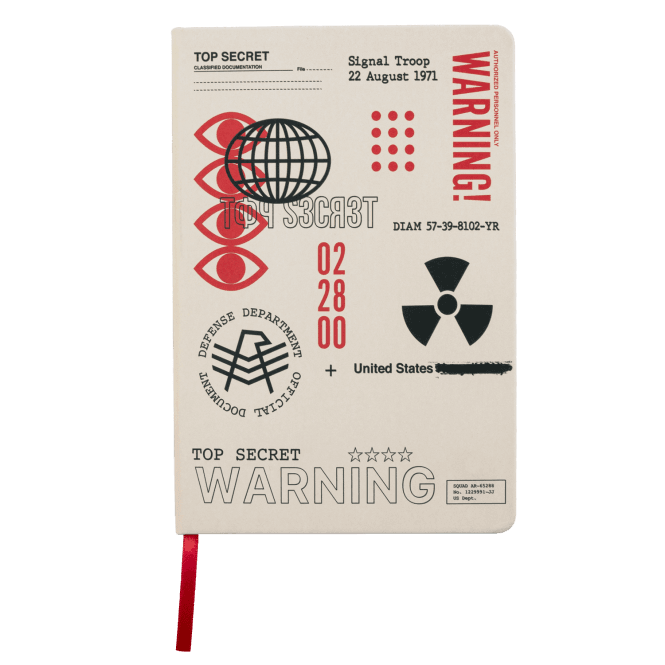 Call of Duty Cold War Top Secret Documents Notebook