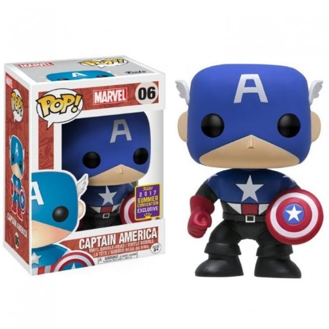 Captain America Black & Blue Exclusive POP! Vinyl