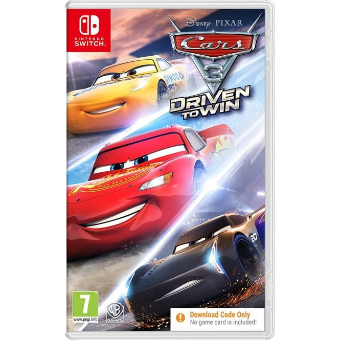 Cars 3 Driven to Win Code In A Box Switch
