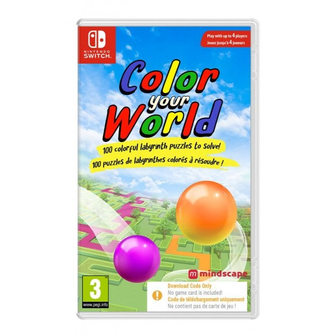 Color Your World Switch Code in a Box