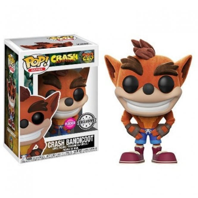 Crash Bandicoot Exclusive Flocked POP! Vinyl