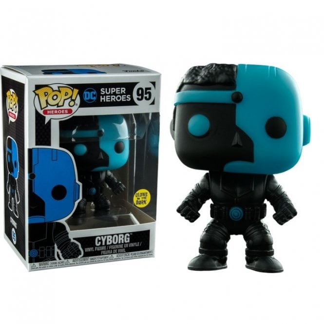 Cyborg Silhouette GITD Exclusive Pop! Vinyl