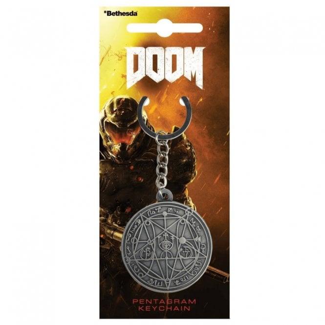 Doom Pentagram Keyring