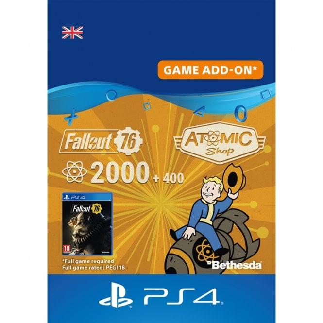 Fallout 76 2000 +400 Atoms