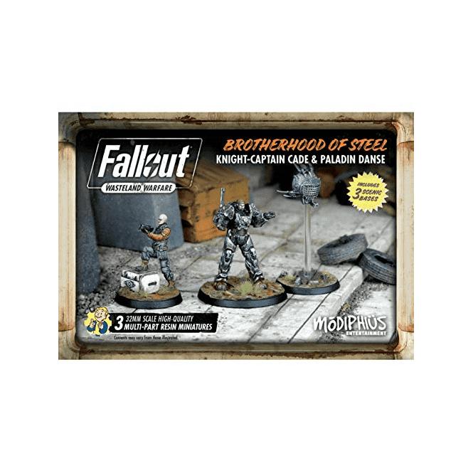 Fallout Wasteland Warfare Brotherhood of Steel Knight Captain Cade & Paladin Danse