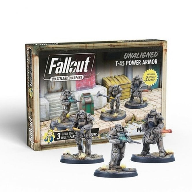 Fallout Wasteland Warfare Unaligned T-45 Armor