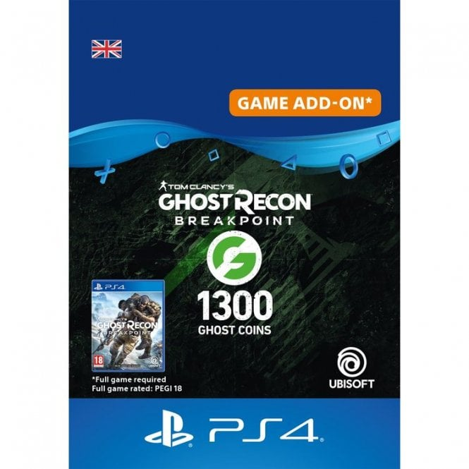 Ghost Recon Breakpoint 1200 Ghost Coins + 100 Coins