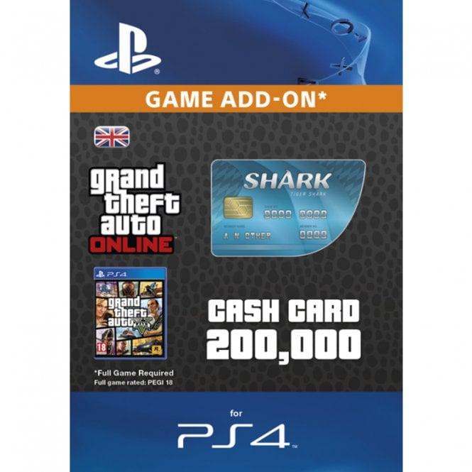 GTA V - Tiger Shark Cash Card PS4