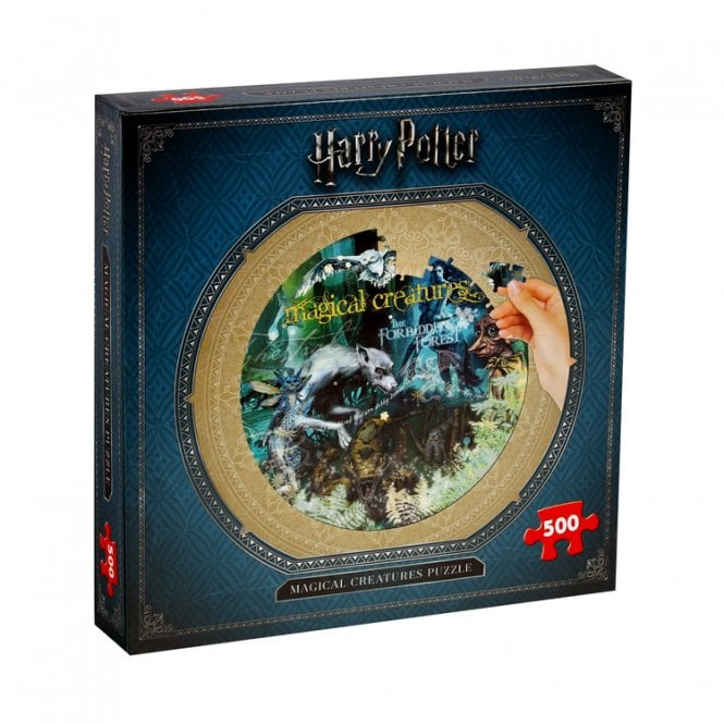 Harry Potter Magical Creatures Round Jigsaw