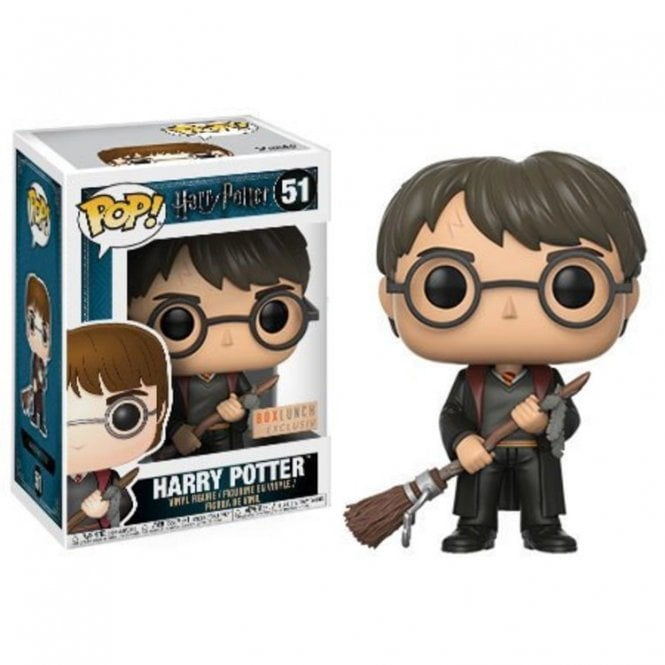 Harry with Firebolt & Feather Exclusive POP! Vinyl
