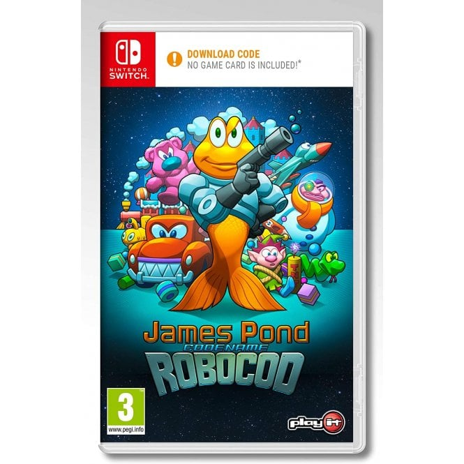 James Pond Codename Robocop Code In A Box Switch