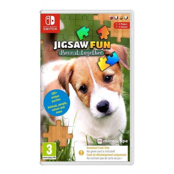 Jigsaw Fun Piece It Together Switch Code in a Box