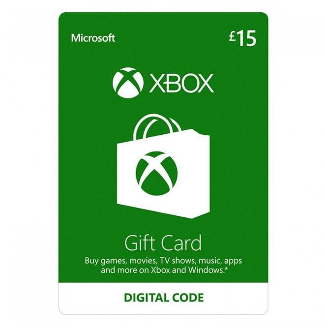 Microsoft Xbox Live Gift Card £15