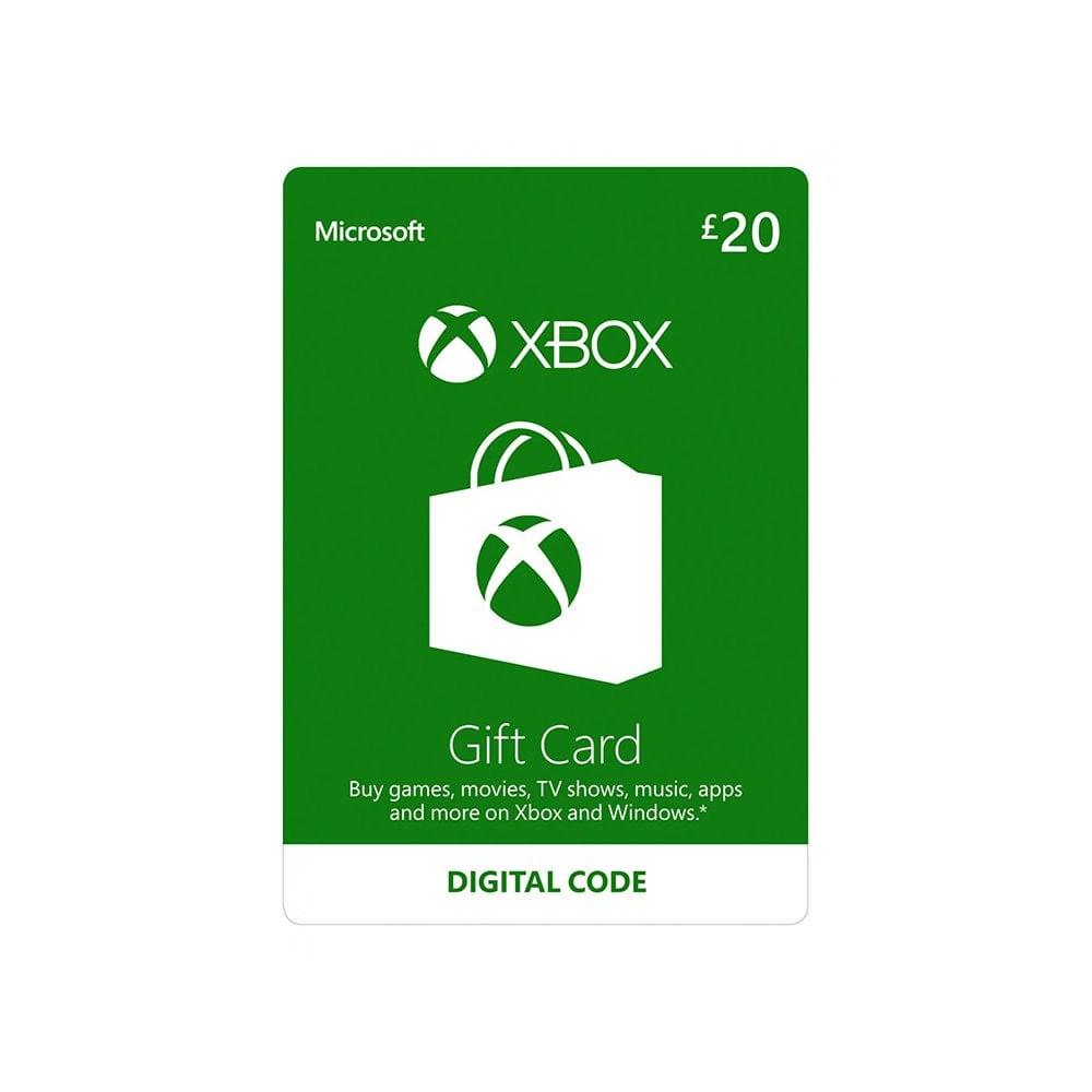 microsoft xbox live gift card £20  gaming from gamersheek