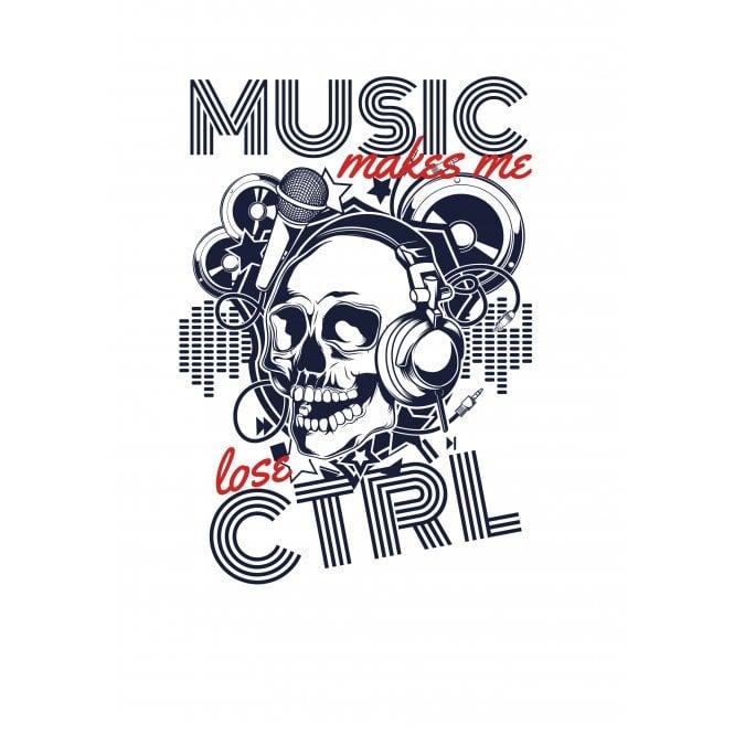Music Makes Me Lose CTRL T-Shirt