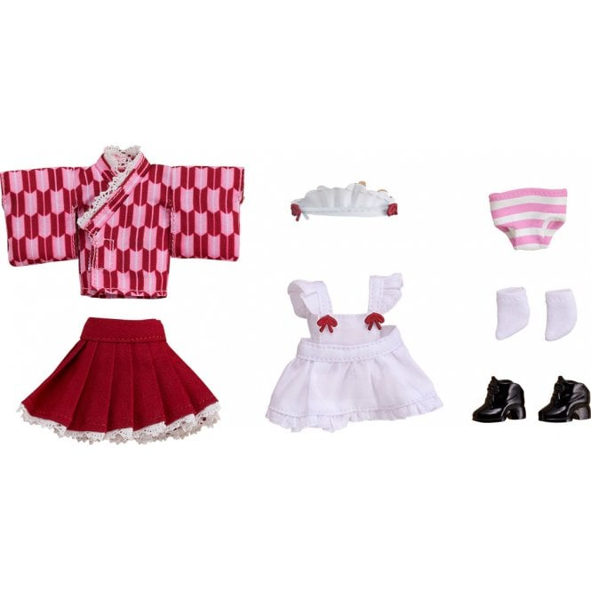 Nendoroid Doll Outfit Set - Pink Japanese-Style Maid