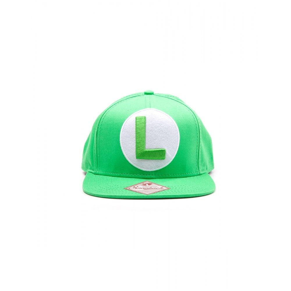 Nintendo Green Snapback Cap with Luigi Logo - Epic Loot from Gamersheek d559c7407675
