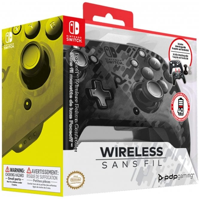 Nintendo Switch Black Camo Wireless Controller