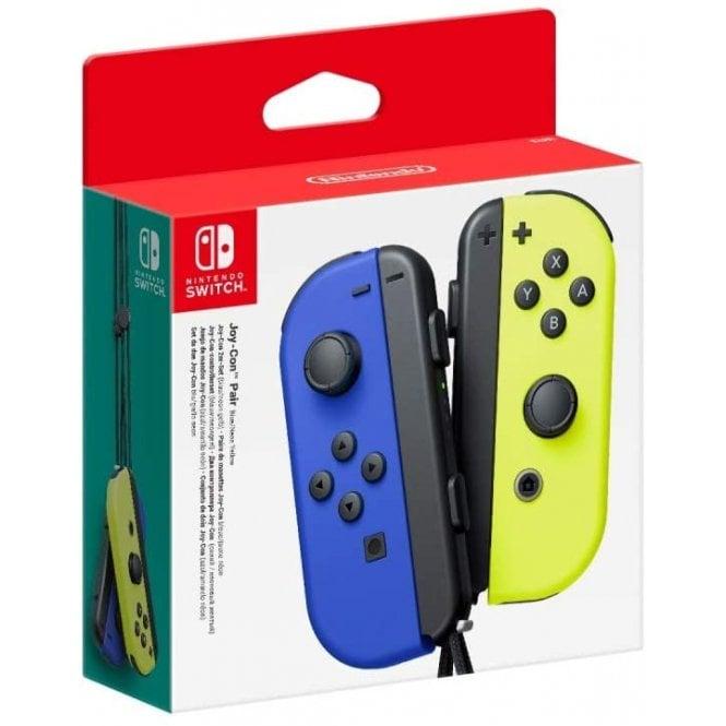 Nintendo Switch Blue & Neon Yellow Joy-Con Pair