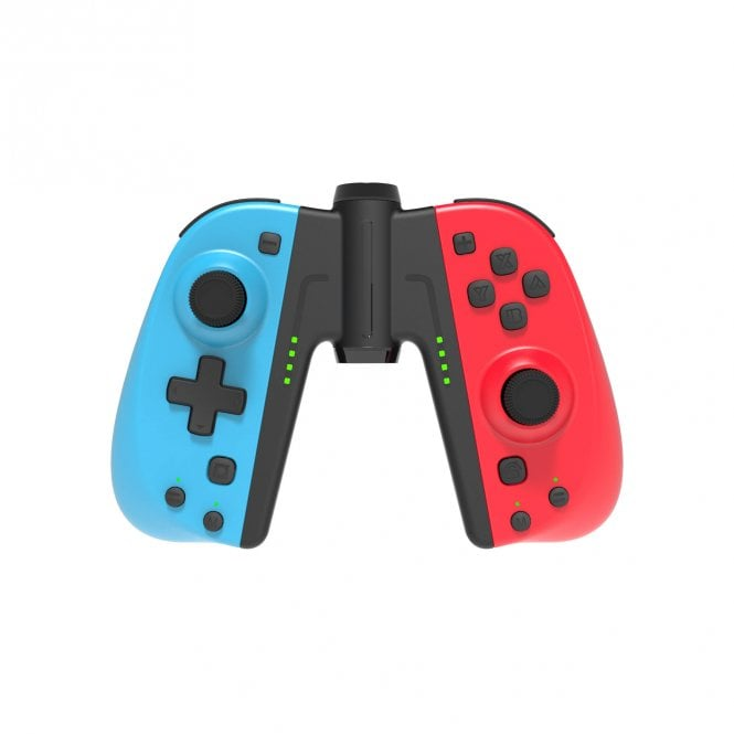 Nintendo Switch C25 Dual Joy-Con Controllers Neon Red & Blue