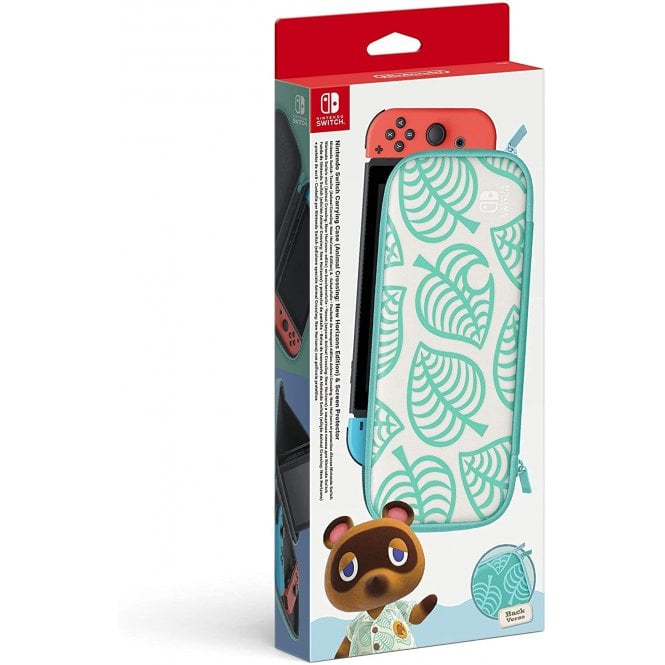 Nintendo Switch Carrying Case & Screen Protector Animal Crossing New Horizons Edition