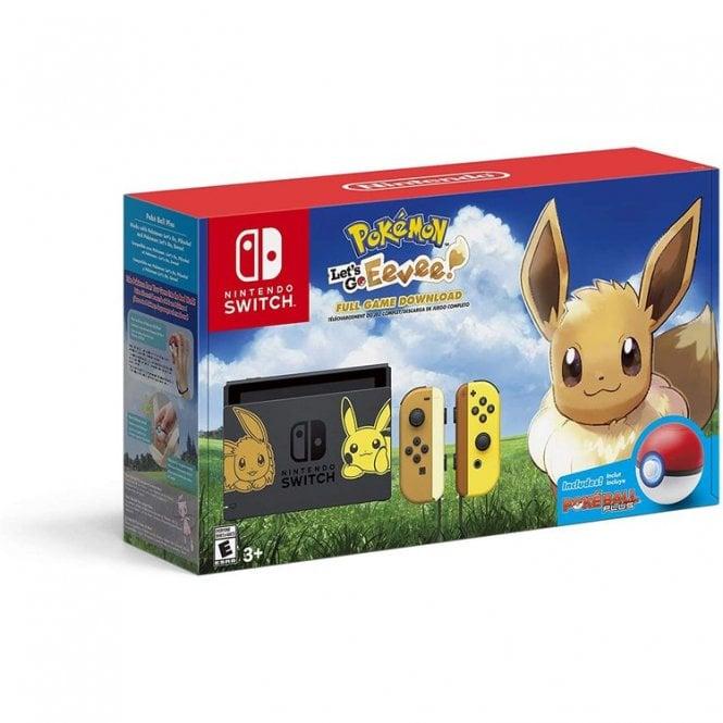 Nintendo Switch Console Pokemon Let's Go Eevee & Pokeball Plus Bundle