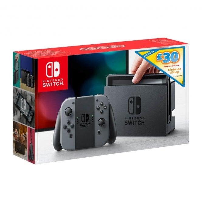 Nintendo Switch Grey Console with £30 Nintendo eShop Voucher