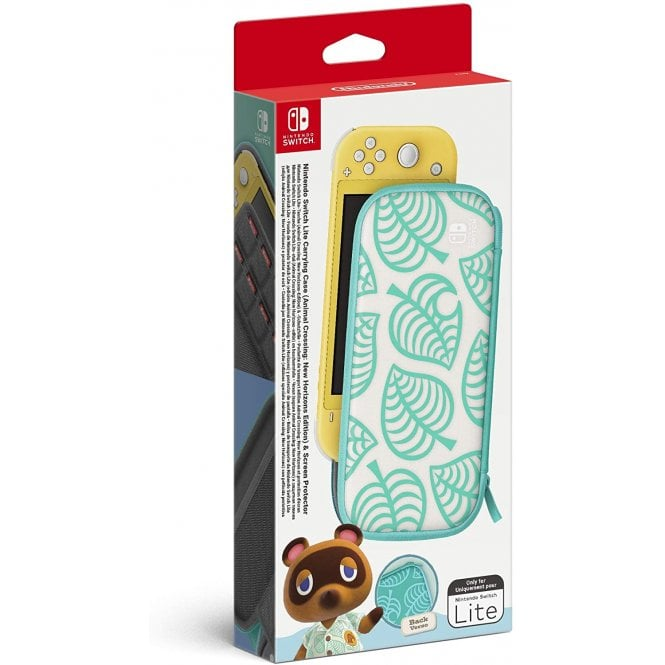 Nintendo Switch Lite Carrying Case & Screen Protector Animal Crossing New Horizons Edition