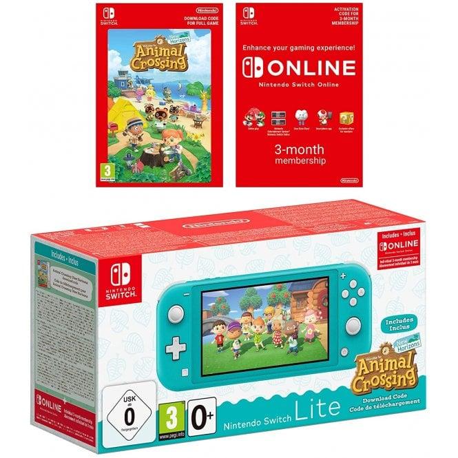 Nintendo Switch Lite Turquoise & Animal Crossing New Horizons & Nintendo Switch Online 3 months