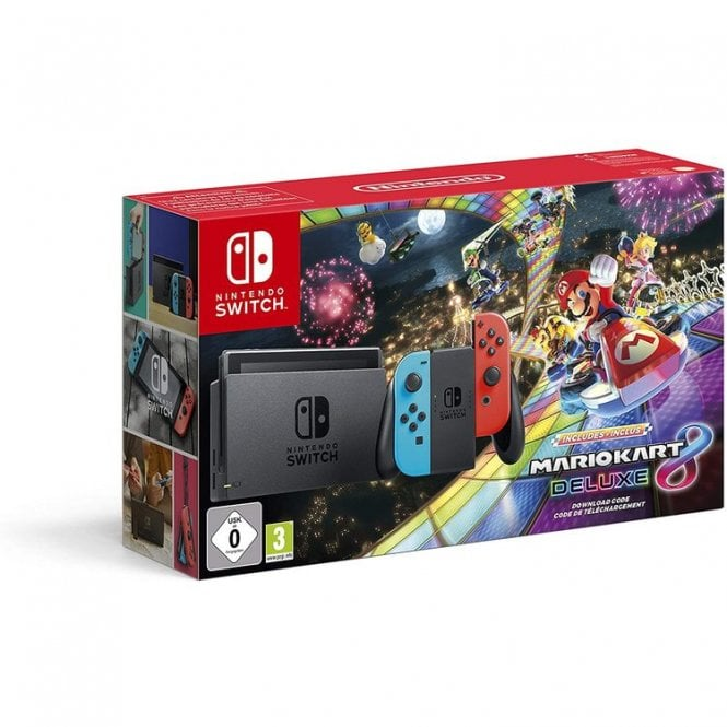 Nintendo Switch Neon & Mario Kart 8 Deluxe