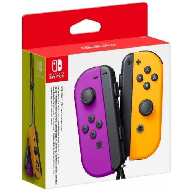 Nintendo Switch Neon Purple & Neon Orange Joy-Con Pair