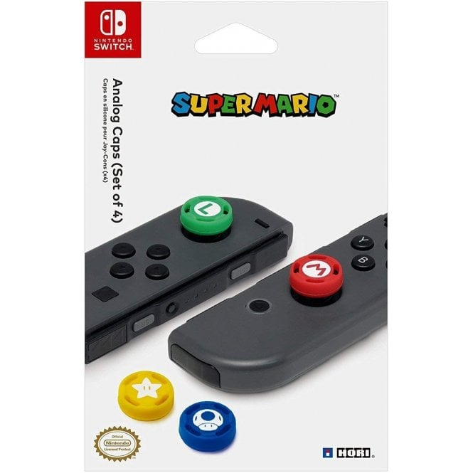 Nintendo Switch Super Mario Analogue Stick Covers