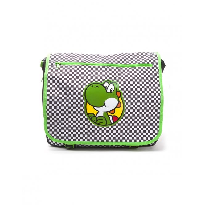 Nintendo Yoshi Checkered Messenger Bag