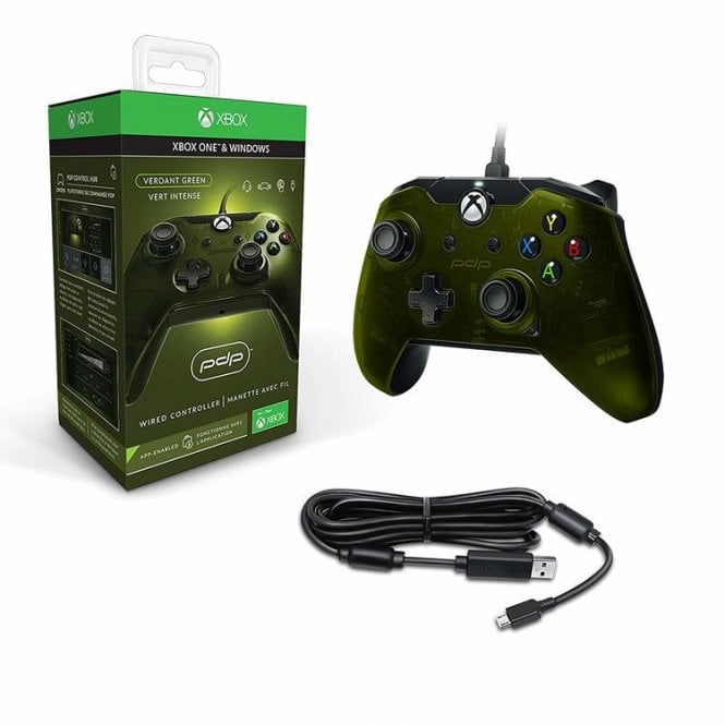 PDP Green Wired Controller Xbox