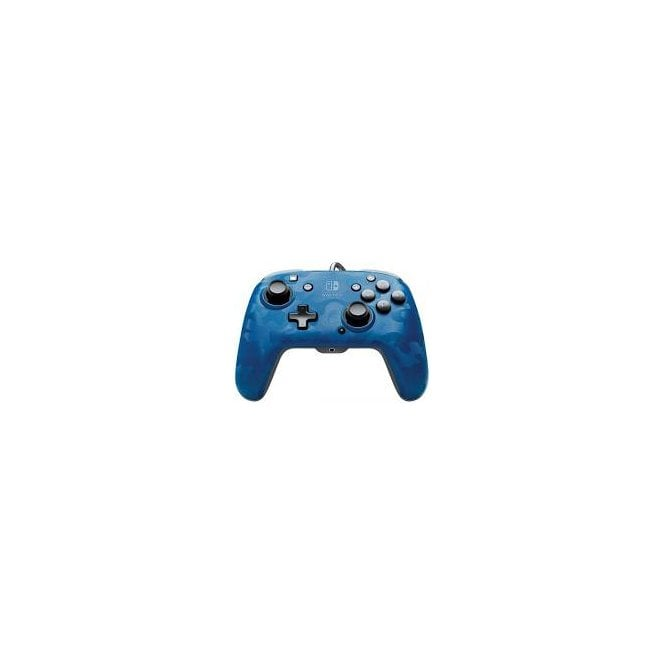 PDP Switch Blue Camo Deluxe Wired Controller