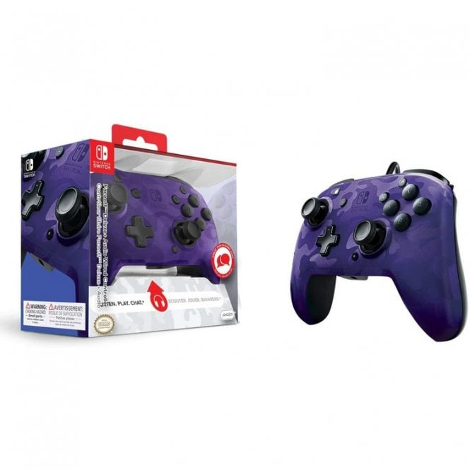 PDP Switch Purple Deluxe Wired Controller