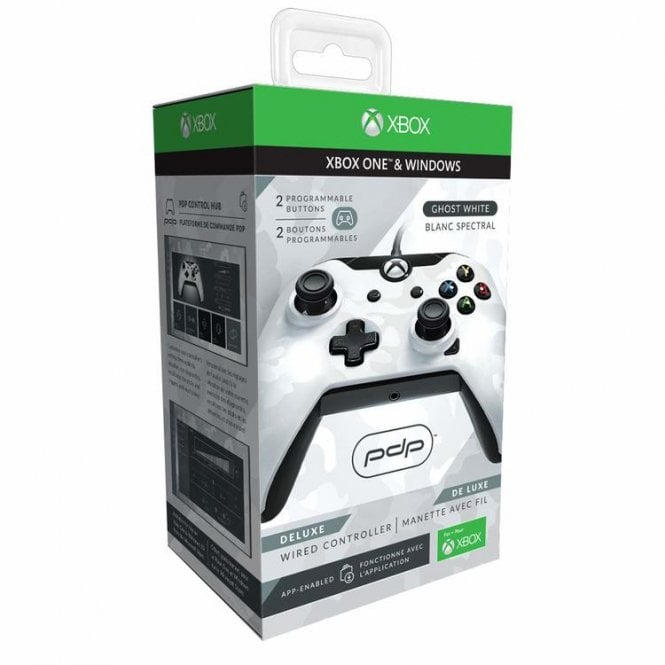 PDP White Deluxe Wired Controller Xbox One