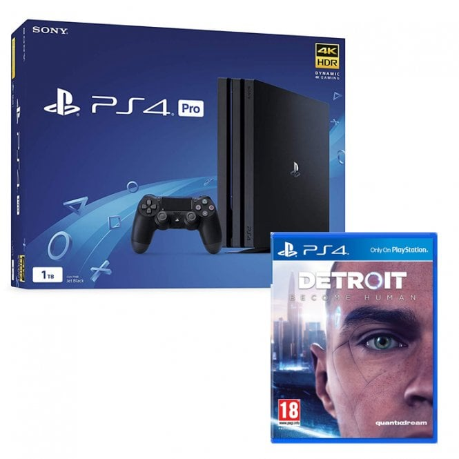 Playstation 4 1TB Pro Black Console Bundle