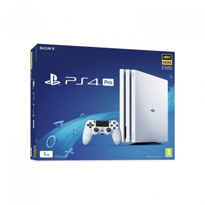 Playstation 4 1TB White Pro Console