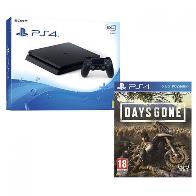 Playstation 4 500GB Console Black with Days Gone