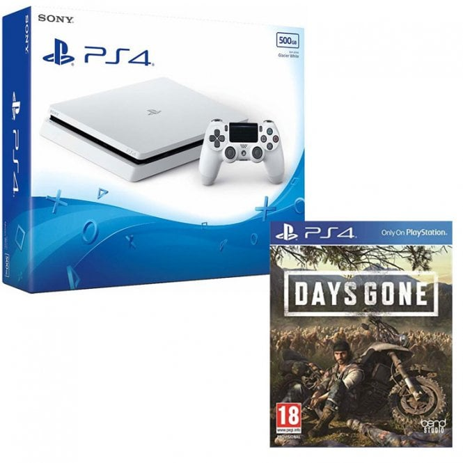 Playstation 4 500GB Console White with Days Gone