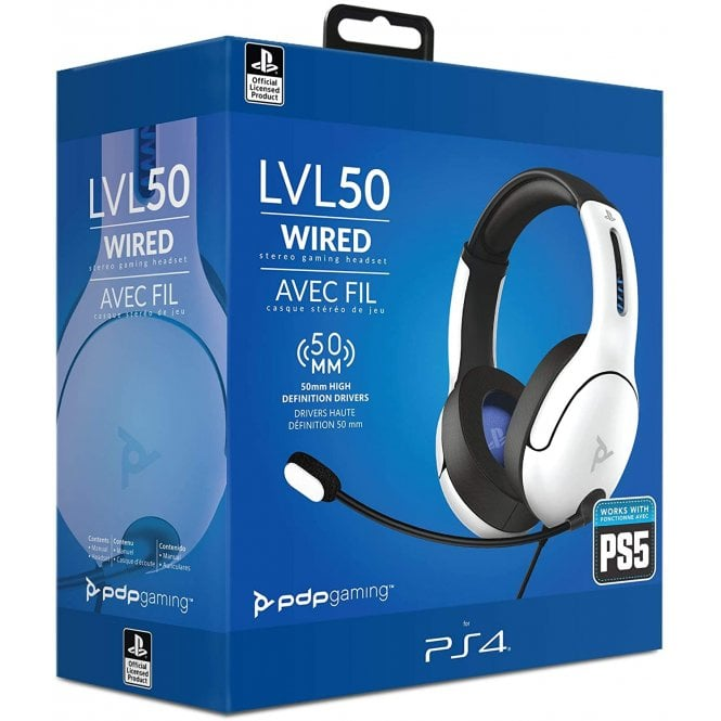 Playstation 4 LVL50 White Headset
