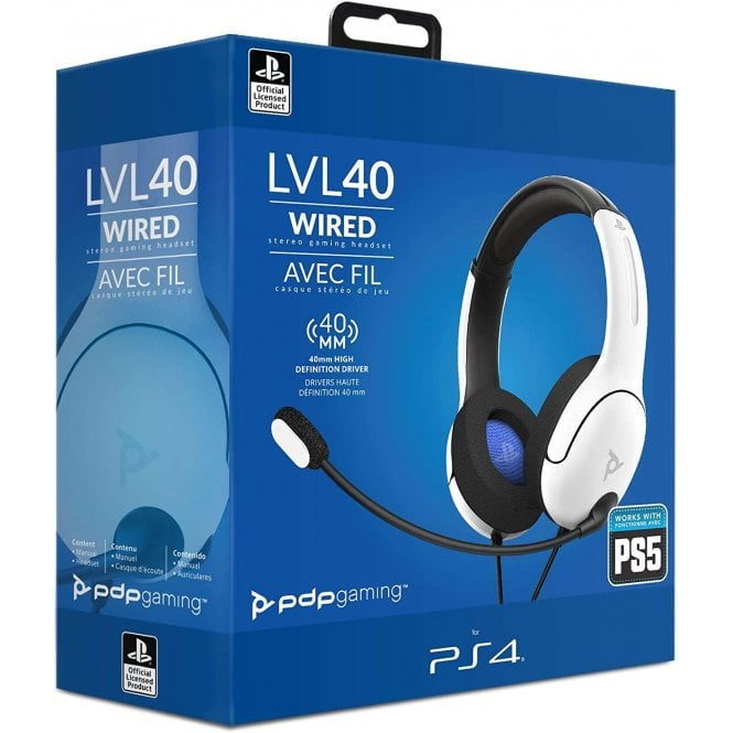 Playstation 4 Wired LVL 40 White Headset
